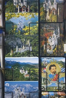 Postcards, Souvenir, Castle, Kristin, Fairy Tales