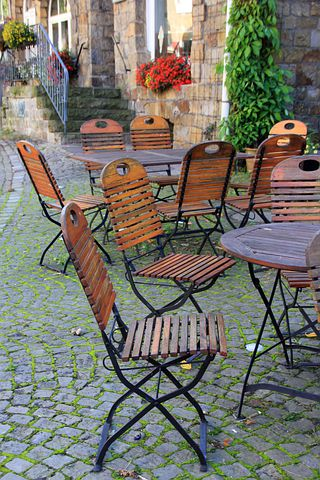 Chair, Chairs, Gastronomy, Season, Autumn, Schwalenberg