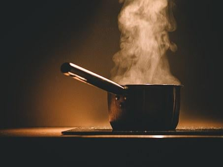Pot, Steaming, Hot, Cooking, Kitchen, Stove, Cooker