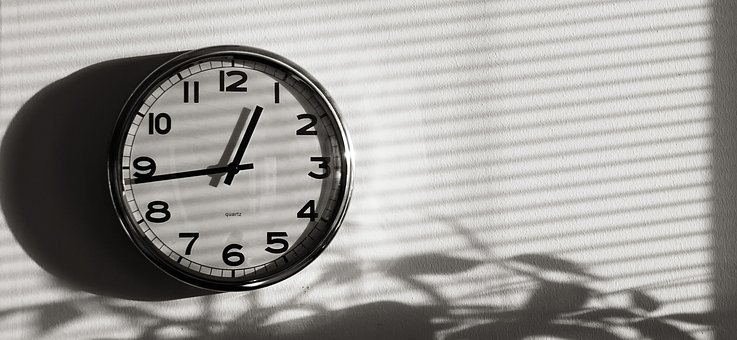 Time, Clock, One, Fifteen, Watch, Hour, Minute
