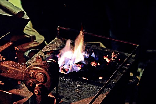 Forge, Fire, Middle Ages, Hot, Embers, Glow, Craft