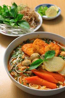 Vegetarian, Rice Noodle, Vietnam, Asian, Food, Meal