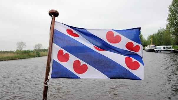 Flag, Friesland, Water-lily Leaves, Fryslan