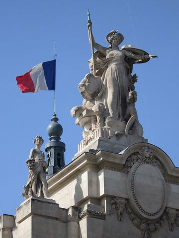 French Flag, Great Palace, Grand Palais, Flag, French