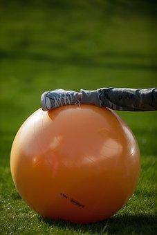 Ball, Gym, Fitness, Orange, Stretchig, Active, Sports
