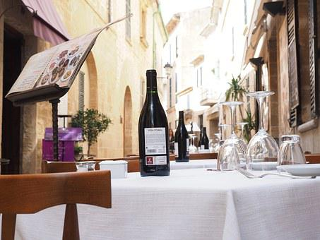 Menu, Restaurant, Gastronomy, Wine, Table, Covered