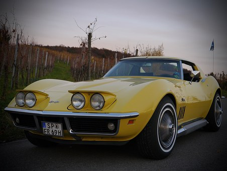 Corvette, Oldtimer, Yellow, Classic, C3, Vehicle