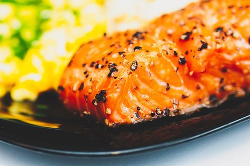 Salmon, Fish, Food, Dinner, Plate, Spices, Pepper