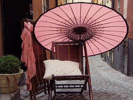China, Chair, Quiet, Street, Outdoors
