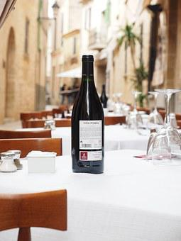 Wine, Wine Bottle, Restaurant, Gastronomy, Table
