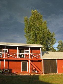 Summer, Finnish, Granary, Countryside, Nature, Sky