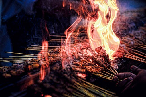 Fire, Heat, Grill, Smolder, Hot, Burn, Cook, Bbq, Scene