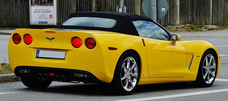 Corvette, Sports Car, Auto, Speed, Sporty, Yellow
