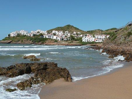 Beach, Menorca, Spain, Sea, Summer, Minorca, Water