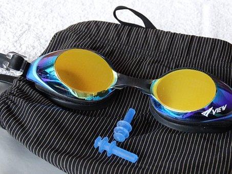 Swimming Trunks, Swim Goggles, Swimming Equipment