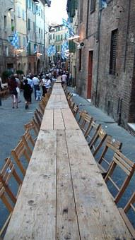 Siena, Party, Table, Chairs, Dinner, Long, Wood