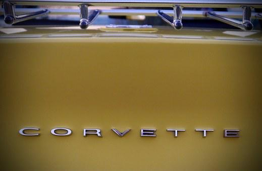 Corvette, Oldtimer, Auto, Historically, Vehicle, Yellow