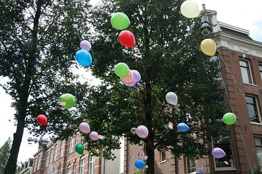 Party, Balloon, Balloons, Birthday, Amsterdam