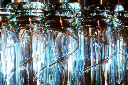 Shimmering, Glass, In Line, Bar, Party, Fun, Beverage