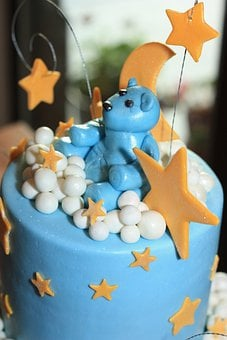 Cakes, Baby Shower, Blue, Bears, Designs, Decorative