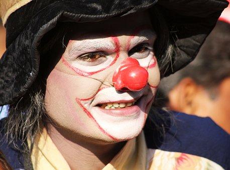 Clown, Makeup, Circus, Fun, Face, Hat, Party, Carnival