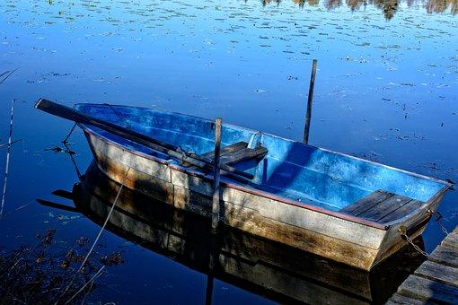 Rowing Boat, Boot, Lake, Water, Pier, Fishing Boat
