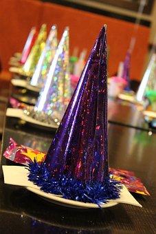 Party Hat, Glitter, Hat, Holiday, Celebration, Fun