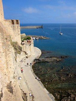 Collioure, Fort, Mediterranean, Harbour