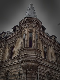 House, Dark, Horror Movie, City