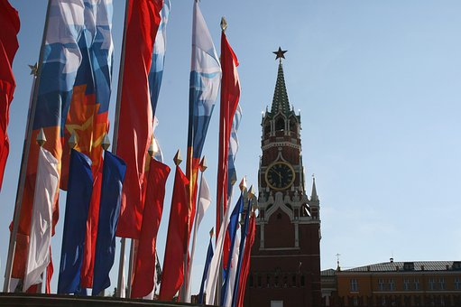 Kremlin, Flags, Victory Day Celebration