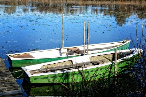 Rowing Boat, Boat, Lake, Water, Pier, Fishing Boat