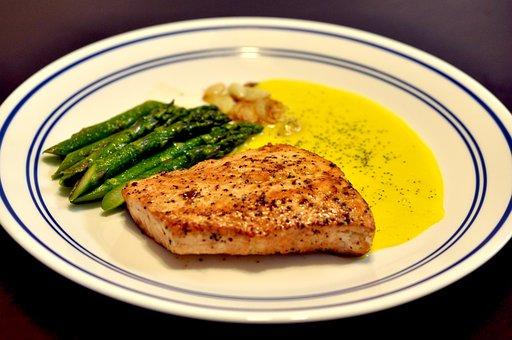 Salmon, Steak, Food, Dinner, Seafood, Cooking, Meal
