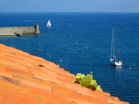 Collioure, Mediterranean, Harbour, Pyrénées-orientales