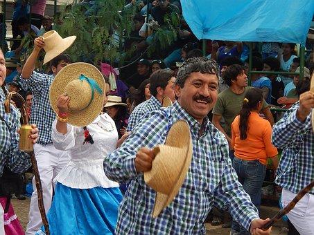 Carnival, Cajamarca, Peru, Men, Hat, Festival, Parade