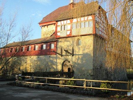 Moated Castle, Hagenwil, Thurgau, Switzerland