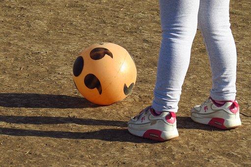 Ball, Balloon, Football, Court, Game, Party, Grass