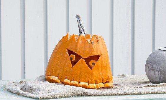 Pumpkin, Underbite, Halloween, Autumn, Orange