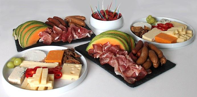Tapas, Refreshments, Food, Meat, Cheese, Party Food