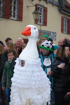 Goose, Carnival, Shrovetide, Germany, Mask, Costume