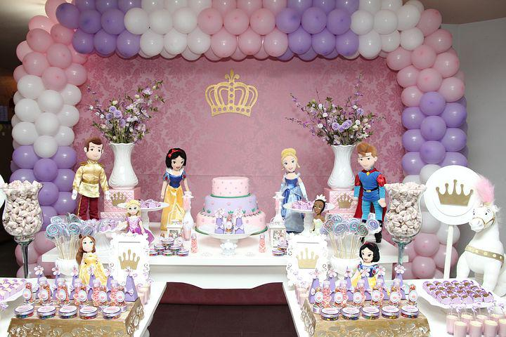 Day, Princess, Birthday, Party, Children, Girls, Theme