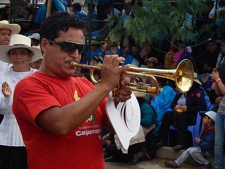 Trumpet, Man, Carnival, Cajamarca, Peru, Men, Festival