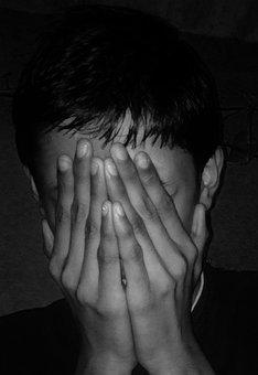 Sad, Dark, Afraid, Hiding, Face, Scared, Fear