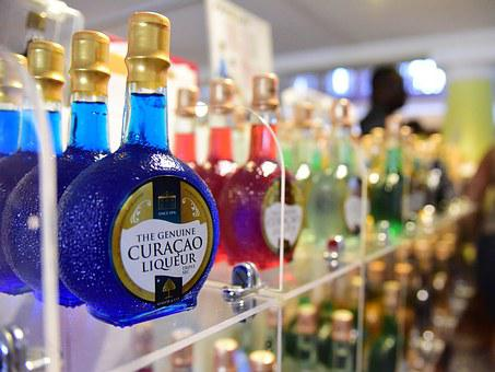 Liquor, Booze, Alcohol, Drunk, Blue, Curacao
