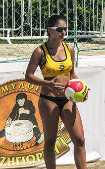 Beach Volley, Sport, Serve, Athlete, Competition