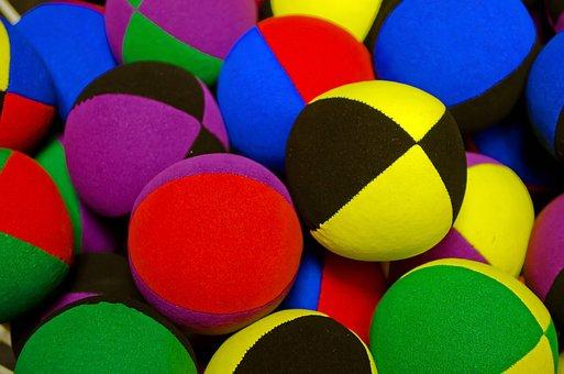 Colored, Balls, Ball, Fabric, Stitched, Juggling