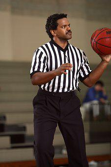 Basketball, Referee, Official, Game, Sport, Ball