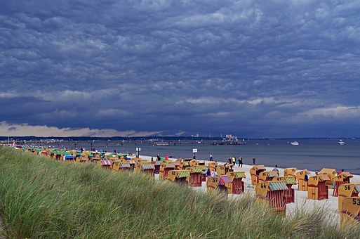 Summer Vacation, Baltic Sea Coast, Lübeck Bay, Beach