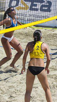Beach Volley, Sport, Action, Athlete, Competition