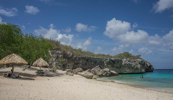Beach, Coastline, Curacao, Sea, Ocean, Water, Coast