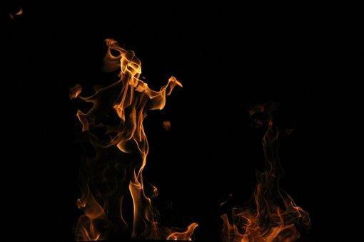 Fire, Black, Background, Wood, Burn, Koster, Coal